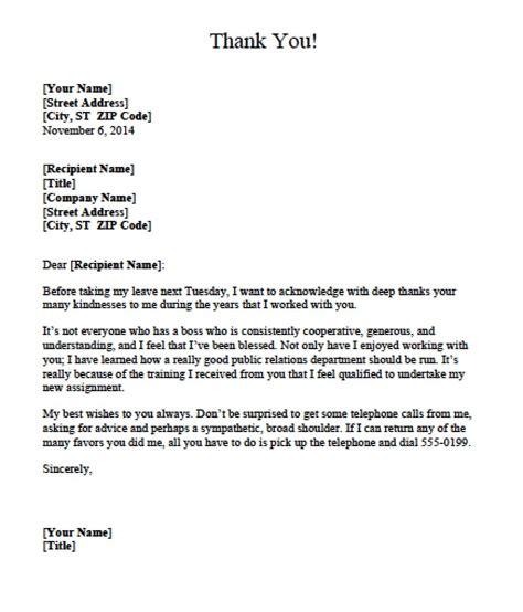 appreciation letter templates formats examples