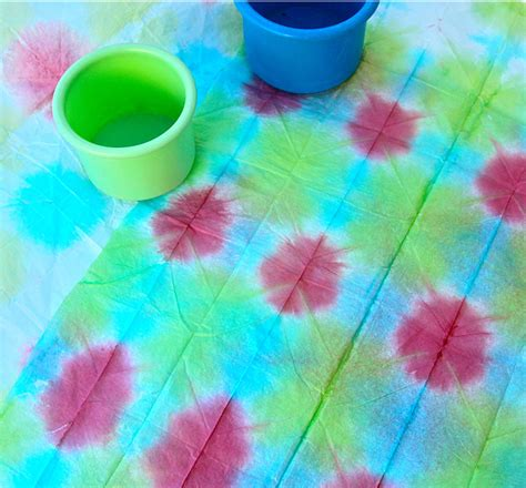 Tie Dye Paper Craft - tie dyed tissue paper family crafts