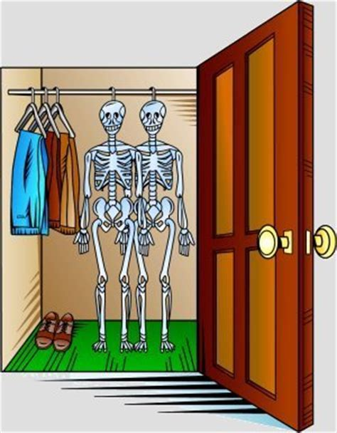 Skeleton In The Closet Idiom by Everyday Expressions Inspired By