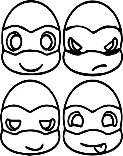 cute ninja turtles printable coloring pages cute best