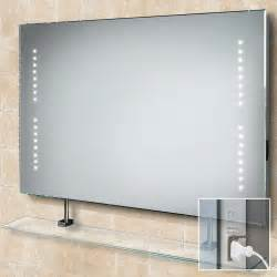 led bathroom mirrors hib aztec demistable led bathroom mirror 73105300