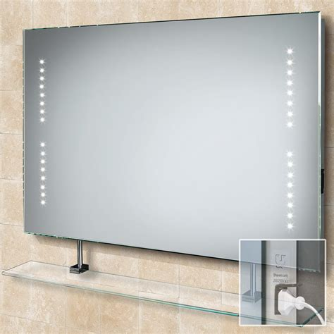 bathroom mirror led hib aztec demistable led bathroom mirror 73105300
