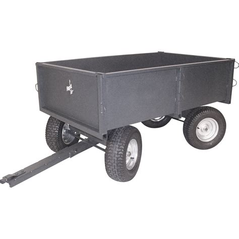 product precision products 4 wheel steerable dual axle trailer cart 2000 lb capacity 17 cu