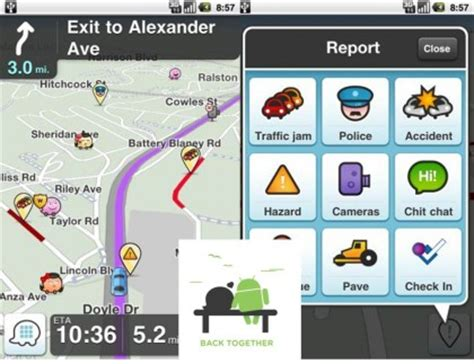 waze for android waze for android goes 3 0 new ui social features