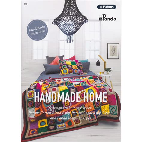 Handmade Home Book - homewares handmade home patons 358 knitting yarns by mail