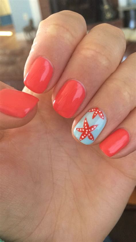good nail color for the beach vacation nails dk nails portland me nails pinterest