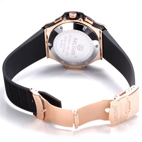 Casio Analog Jam Tangan Wanita Gold Cokelat Diskon megir jam tangan analog mn3002 black gold jakartanotebook