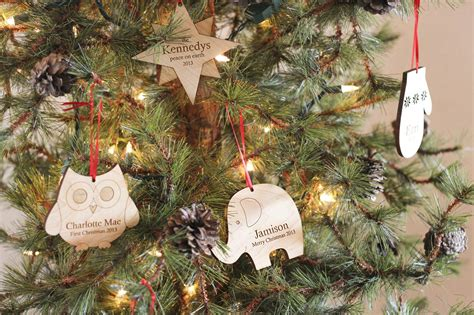 customized tree ornaments personalized tree wooden ornament smiling tree