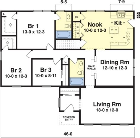 Washburn By Simplex Modular Homes Ranch Floorplan Simplex House Plans
