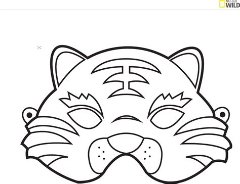 animal mask template   page