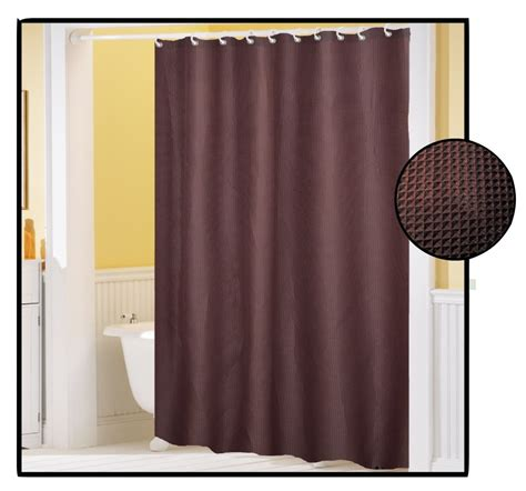 brown waffle weave shower curtain carnation home fashions inc gallery