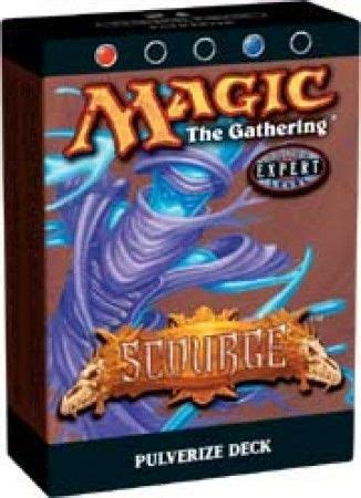 theme deck list mtg scourge pulverize preconstructed theme deck mtg magic
