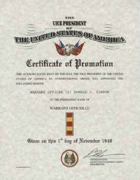 officer promotion certificate template united states marine corps warrant officer promotion warrant