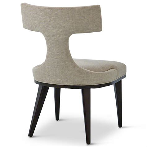 Upholstered Linen Dining Chairs Truman Modern Classic Oatmeal Linen Upholstered Anvil Dining Chair Kathy Kuo Home