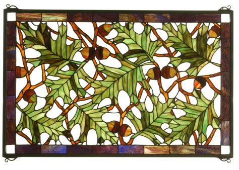 leaf pattern for stained glass meyda 66276 acorn oak leaf stained glass window