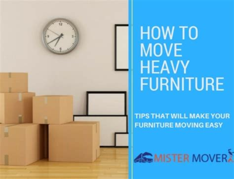 5 furniture removal tips for easy moving mister mover