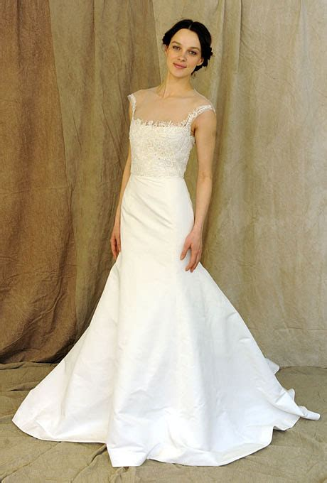 strapless illusion neckline wedding dress sang maestro