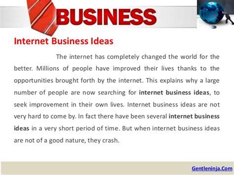 Internet Business Ideas To Make Money Online - 10 internet business ideas to make money online