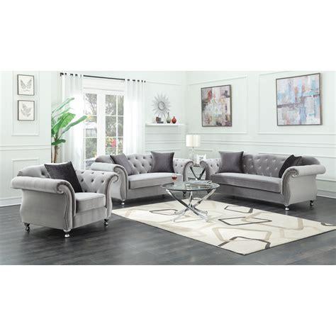 living room groups coaster frostine stationary living room group dunk