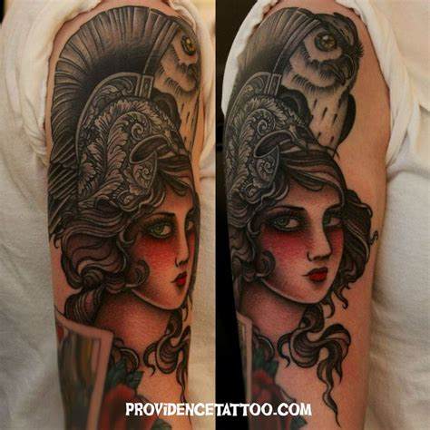 athena tattoo color tattoo women tattoos by dennis m