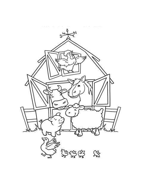 barn animals coloring pages az coloring pages