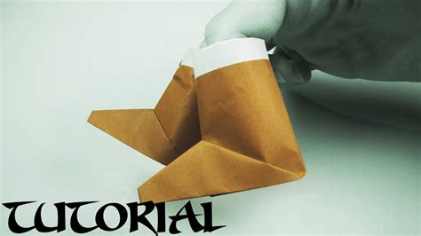 Origami Boot - easy origami boots tutorial