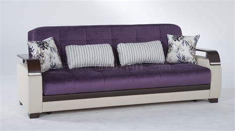 Natural Prestige Purple Sofa Bed By Sunset W Options Purple Sofa Bed