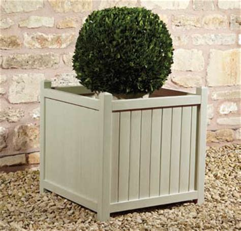 Shabby Chic Planters by Square Shabby Chic Pine Planter H50cm 163 34 99
