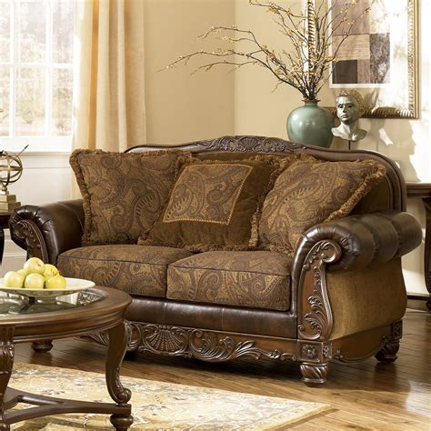 ashley durablend antique sofa signature design by ashley fresco durablend antique