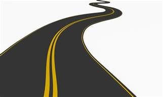 3d graphic of roadmap on white background stock photo