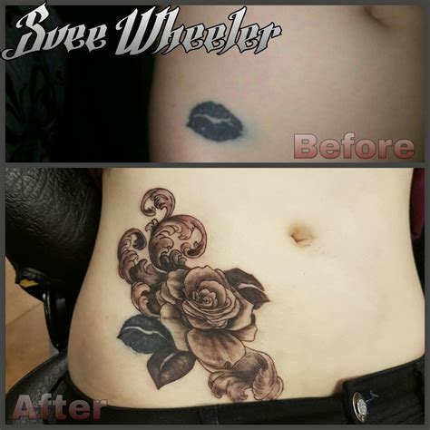 tattoo of lips cover up sveewheeler lips cover up coverups coverup lips roses