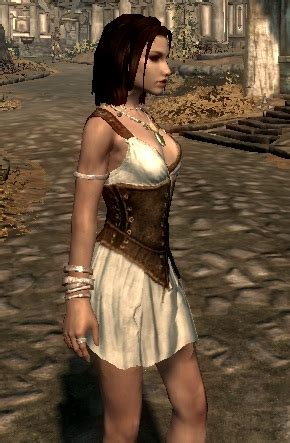 Blouse Import And 3f 33 10 Mnd white tavern clothing wench without towel at skyrim nexus mods and community