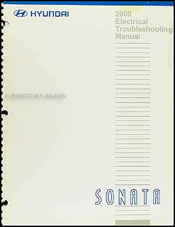 download car manuals 2000 hyundai sonata auto manual 2000 hyundai sonata electrical troubleshooting manual original