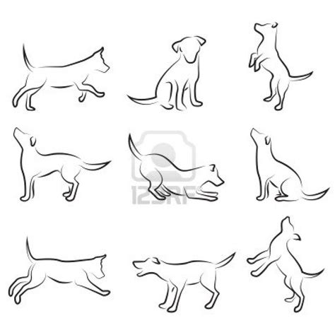 line dogs drawing search reductive form search and