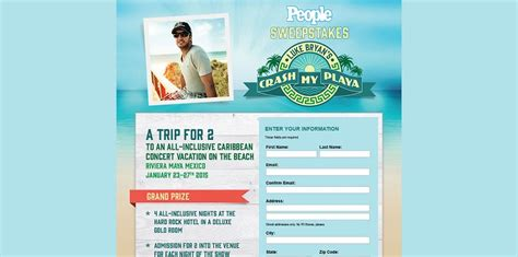 All Inclusive Vacation Sweepstakes - people crash my playa sweepstakes win an all inclusive caribbean concert vacation