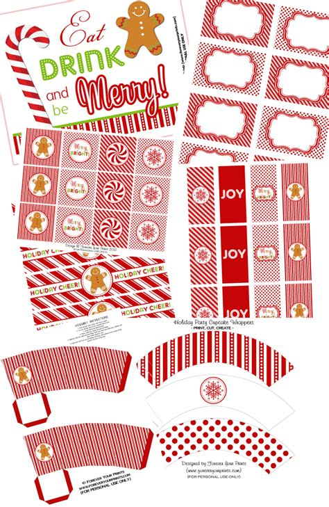 sweet sparkling holiday party free printable