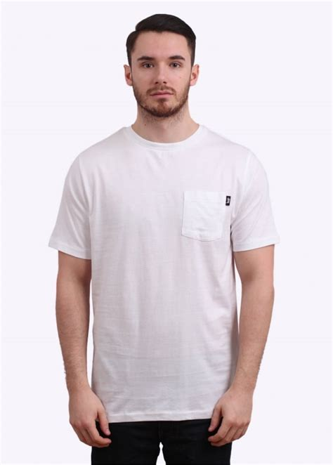 Kaos Tshirt Pocket Stussy Premium stussy original stock pocket white