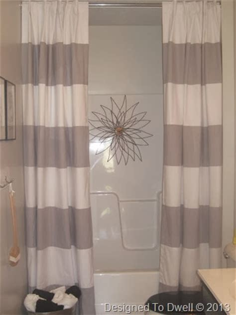 designed to dwell hanging shower curtains shower