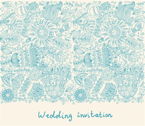 vector pattern for wedding invitation romantic wedding invitation card vector 02 vector card