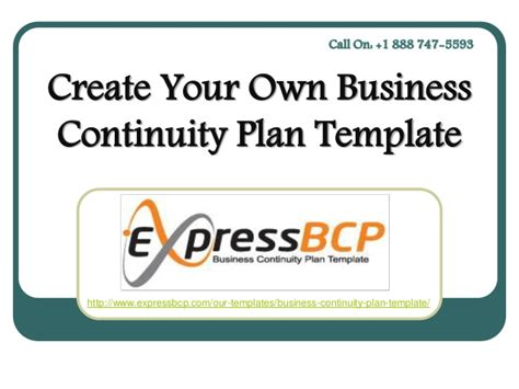create your own template create your own business continuity plan template