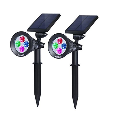 solar spot lights outdoor wall mount nekteck solar powered garden spotlight outdoor spot