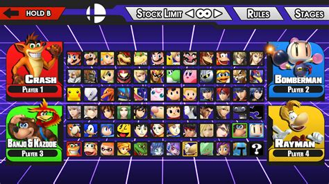 New Super Smash Bros Character Select Screen By Livingdeadsuperstar On Deviantart Smash Bros New Character Template