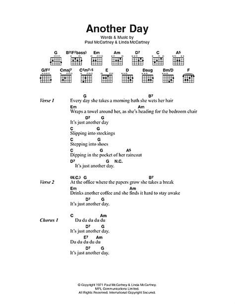 lyrics mccartney another day sheet by paul mccartney lyrics chords