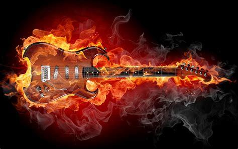 imagenes de guitarras rockeras en hd fondos de pantalla de guitarra rodeada de fuego tama 241 o