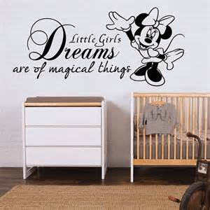 Disney Nursery Wall Decals Minnie Mouse Wall Sticker Quote Disney Bedroom Decal Nursery Sqn003 Quote Wall Wall
