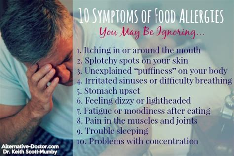 symptoms of allergies 10 symptoms of food allergies you may be ignoring