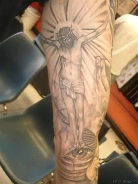 cross arm tattoo 72 great looking jesus tattoos for arm