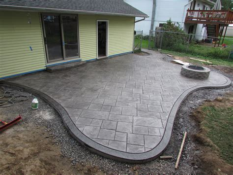 Best Patio Design Cozy Look Sted Concrete Patio Pattern With Colors Option