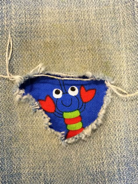 2 fabric peek a boo jean patches strong by holeypatches