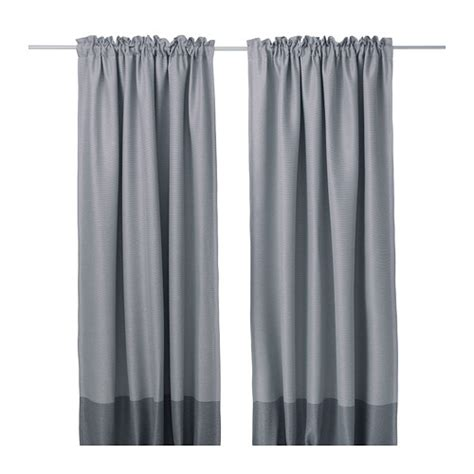 Blackout Curtains With Hooks Marjun M 246 Rkl 228 Ggningsgardiner 1 Par Ikea